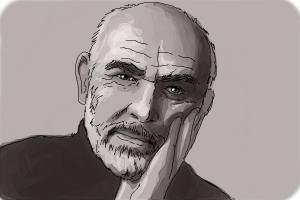 How to draw Sean Connery