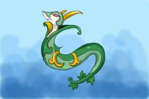 How to draw Serperior