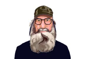 How to Draw Si Robertson from Duck Dynasty