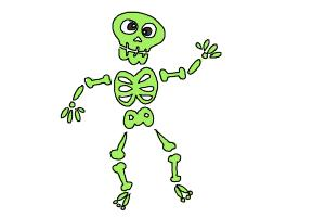 How to Draw Skeleton For Kids