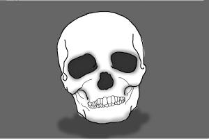 how to draw skeleton head