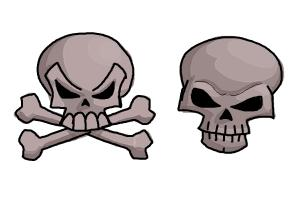How To Draw A Skull And Crossbones Drawingnow