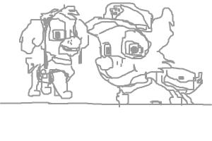 How to Draw Skye And Rocky from Paw Patrol