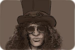 How to Draw Slash, Saul Hudson