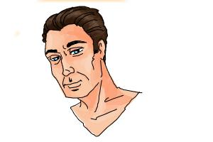 How to Draw Slicked Back Hair