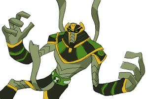 How to Draw Snare-Oh from Ben 10 Omniverse