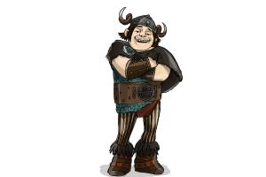How to Draw Snotlout Jorgenson from How to Train Your Dragon 2