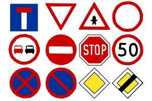 How to draw some common traffic signs