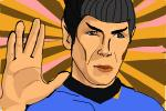 How to draw Spock from Star Trek