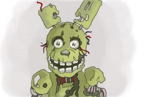 How to Draw Springtrap from Five Nights At Freddy'S 3