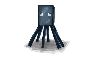 How to Draw Squid from Minecraft