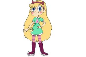 How to Draw Star Butterfly from Star Vs. The Forces Of Evil