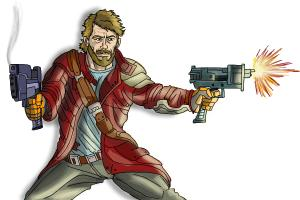 How to Draw Star-Lord, Peter Quill from Guardians Of The Galaxy