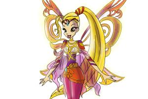 How to Draw Stella, Fairy Of The Shining Sun from Winx