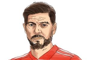 How to draw Steven Gerrard
