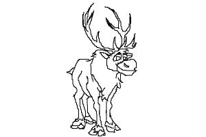 how to draw sven from frozen