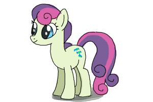 How to Draw Sweetie Drops, Bon Bon from My Little Pony Friendship Is Magic