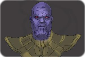 How to Draw Thanos from Avengers: Age Of Ultron