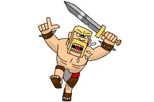 How to Draw The Barbarian From Clash Of Clans