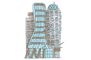 How to draw The Dancing House