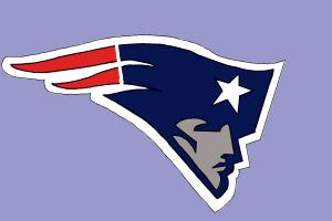 How to draw the New England Patriots logo, NFL team logo