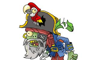 How to Draw The Pirate Captain from Plants Vs. Zombies 2