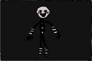 How to draw the puppet from Five Nights at Freddy's