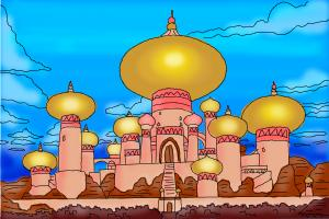 How to draw The Sultan's Palace from Aladdin