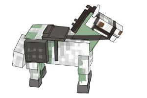 How to draw The Undead Horse from Minecraft