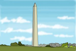 How to Draw The Washington Monument
