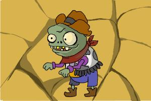 How to draw the Zombie Bullrider from Plants vs. Zombies 2