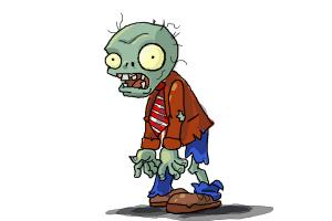 How To Draw A Zombie From Plants Vs Zombies Drawingnow