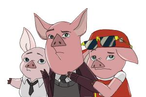 How to Draw Three Little Pigs from Ever After High