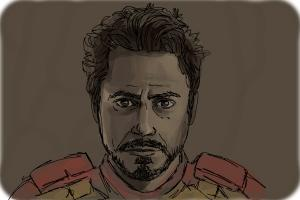 How to draw Tony Stark
