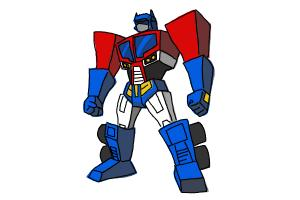 How To Draw Transformers Step By Step Easy Drawings For Kids