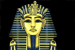 How to draw Tutankhamun's mask