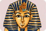 How to draw Tutankhamun's death mask
