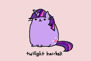 How to Draw Twilight Hairball from My Little Pusheen