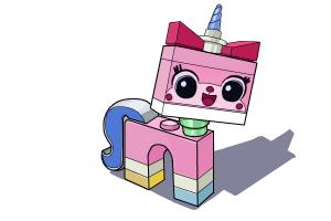 How to draw Uni-Kitty from The Lego Movie