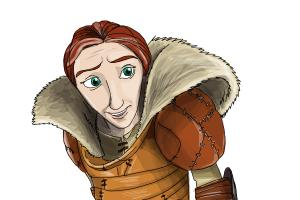 How to draw Valka from How to Train Your Dragon 2