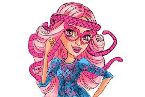 How to draw Viperine Gorgon from Monster High