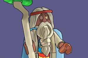 How to draw Vitruvius from The Lego Movie