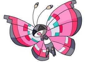 How to draw Vivillon from Pokemon X and Y