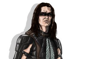 How to draw Warpath, Booboo Stewart from X-Men: Days of Future Past