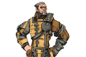 How to Draw Wilhelm from Borderlands The Pre-Sequel