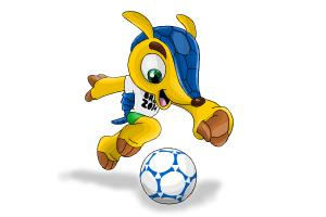 How to Draw World Cup Mascot 2014, Fuleco The Armadillo