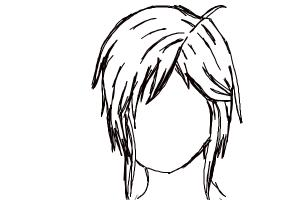 How to Sketch:Short Anime Female Hair
