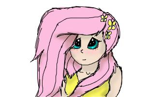 how yo draw fluttershy as a human