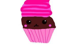 Chocolate Kawaii Cupcake