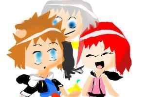 Kingdom Hearts: Sora, Riku , Kairi
